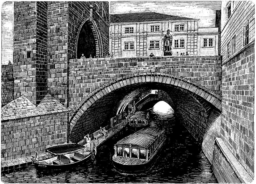 Vodouch pod Karlovým mostem | Pražské Benátky
