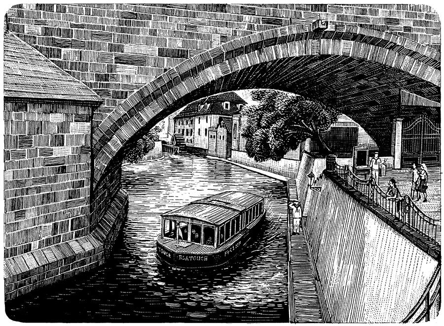 Pozůstatky Juditina mostu | Pražské Benátky