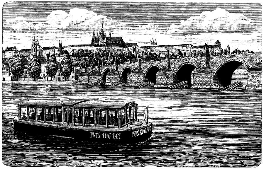 Vodouch a Karlův most | Pražské Benátky