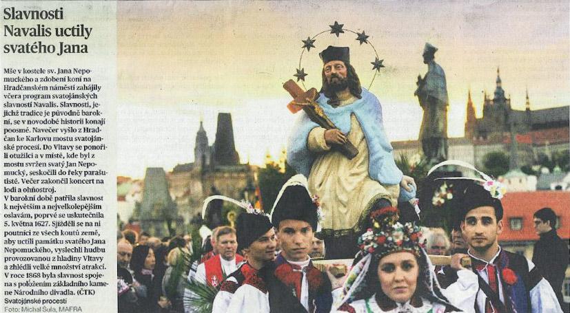 Článek o Navalis 2016 v MF Dnes | Pražské Benátky