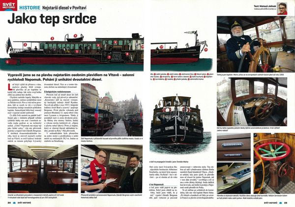 Salonní rychloloď Nepomuk nejstarší diesel v Povltaví | Pražské Benátky