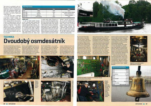 Salonní rychloloď Nepomuk v časopisu Svět motorů | Pražské Benátky
